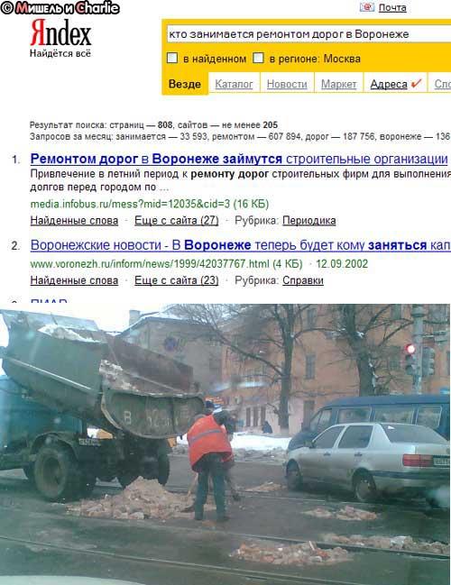 Ремонт дорог в Воронеже
